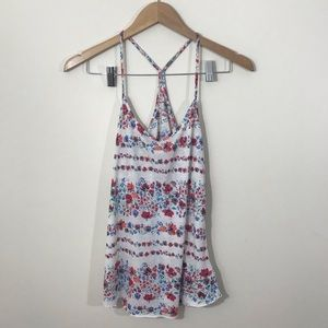 Urban Outfitters Floral Print Strappy Tank Top